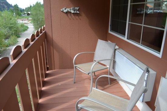 Hot Springs Inn: Petit balcon