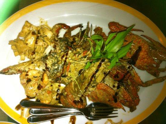 Thaproban Pavilion Resort and Spa: Seafood platter