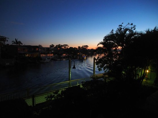 Hotel Laguna: Sunset on the Bedroom balcony - River view room