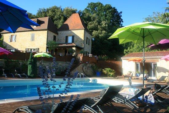 Domaine de Campagnac: vue de la piscine