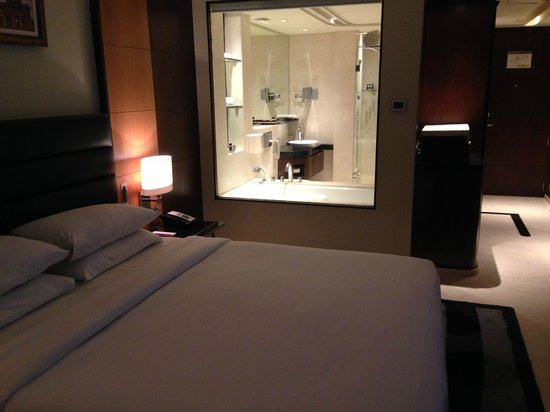 Vivanta by Taj Begumpet : Looking into the bathroom from the bedroom
