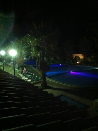 Hotel Marina Parc: pool lit up at night