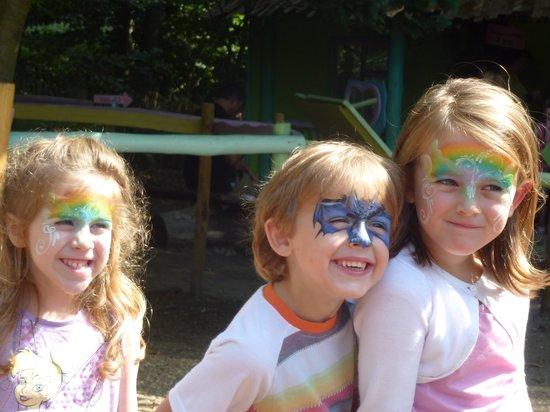 BeWILDerwood: Happy painted faces