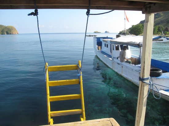 Komodo Resort & Diving Club: from the diving boat, looking out on another one