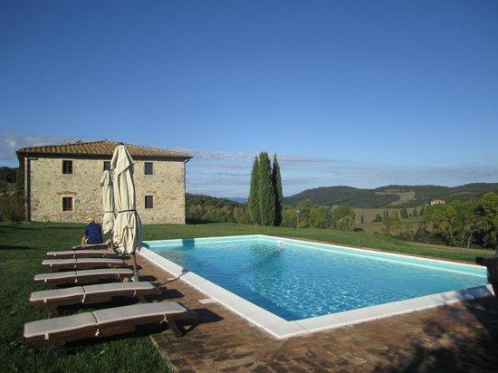 Villa Le Ginepraie: Pool area - huge pool and hard wood patio furniture