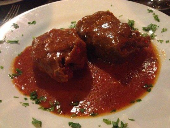 Kandles Restaurant: involtini al sugo