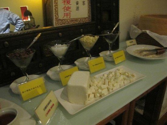 Zen Meal Vegetables Restaurant : Cheeses