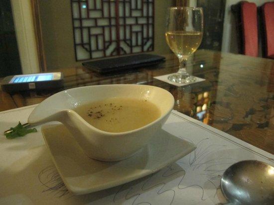 Zen Meal Vegetables Restaurant : Delicious soap