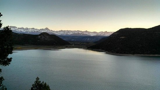 Ridgway State Park: Sunset over the Resevoir