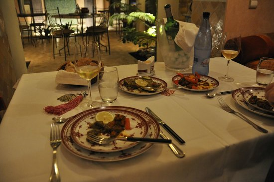RIAD ELYTIS : We had our evening meals over-looking the courtyard