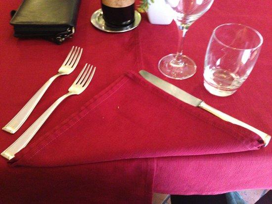 Ristorante da Cecco: Table setting