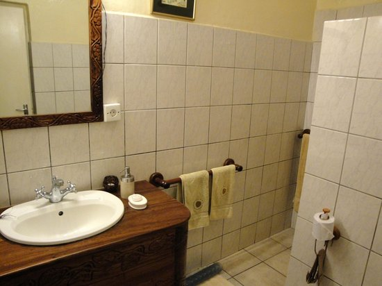 Mount Meru Game Lodge & Sanctuary: the bathroom of room 22