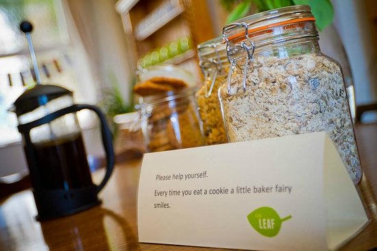 Little Leaf Guest House : Great coffee...and cookies