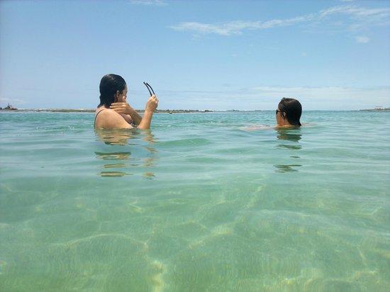 Chales Praias do Sul: Banho de mar - aguas cristalinas