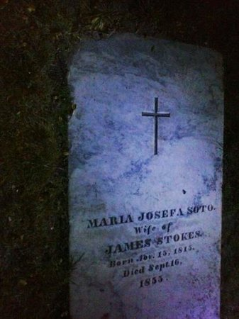 Ghost Tour of Old Monterey : Walking the graveyard in the dark looking for this marker
