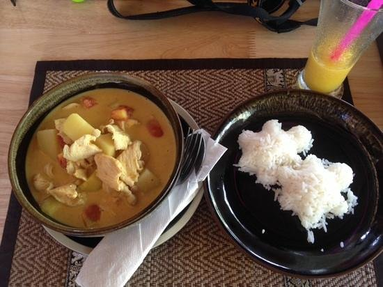 Happy Turtle : yellow curry with turtle-rice