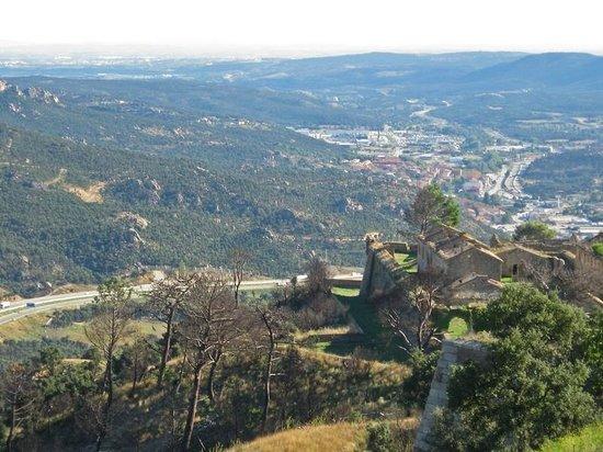 Fort de Bellegarde : Vue sur l'Espagne