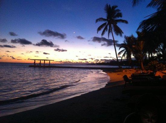 Sca Beach Club Restaurant: Atardecer desde la playa del sca beach club