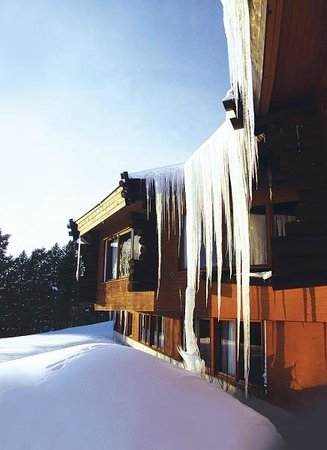 Davvi Arctic Lodge: We love our winter icicles!