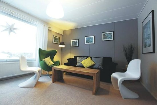 Davvi Arctic Lodge: The living area in our Fell House