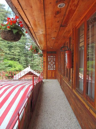 The Chalets Naldehra: Entrance to our room