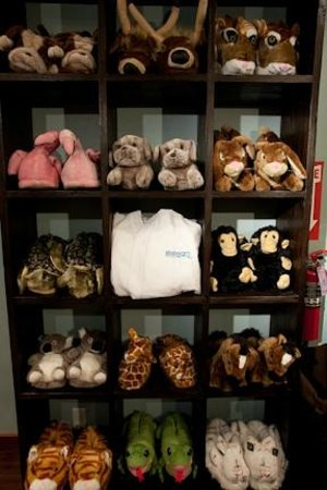 Lifestream Spa & Boutique: Fuzzy Animal Slippers begin every Lifestream Experience!