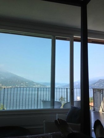 Borgo Le Terrazze: View taken laying on bed in Suite Bellagio