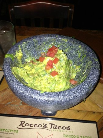 Rocco's Tacos & Tequila Bar - Fort Lauderdale: The best guacamole ever!