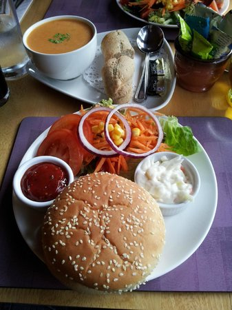 Glen Rowan Cafe: hamburguesa vegetal