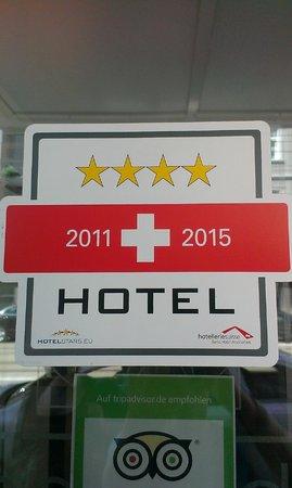Leonardo Hotel Rigihof Zürich: Certification sign - Hotelstars