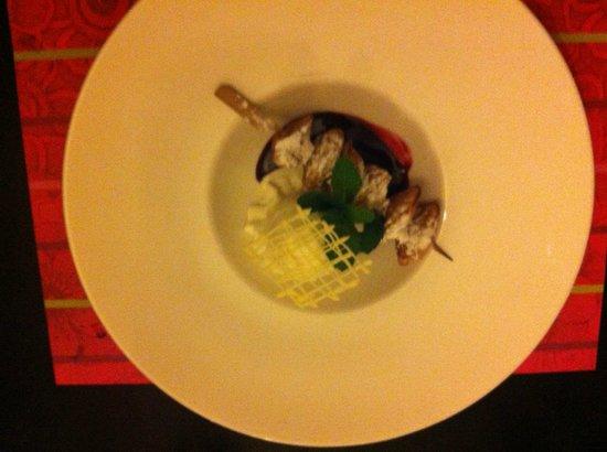 Van der Valk Hotel Goes: Skewer of mini pancakes
