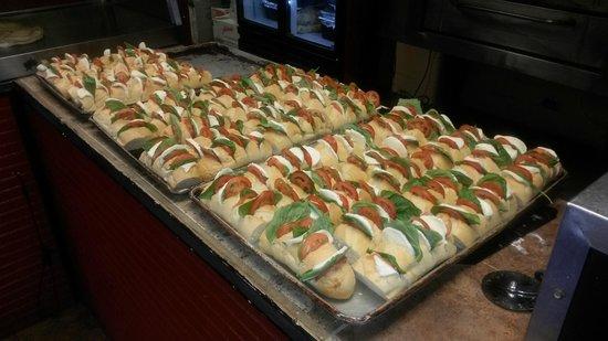 Bella Luna Pizzeria Inc: Stuffed Mozzarella for our business meeting