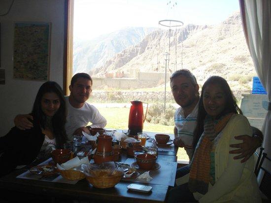 Huaira Huasi : Desayunando con una hermosa vista!!!