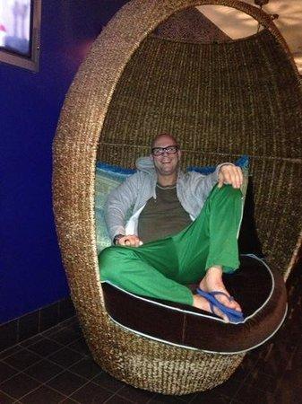 Marrakech Hotel: lekker in de lounge en gratis wifi! wel erg slechte verbinding