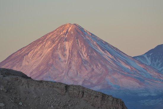 Awasi Atacama - Relais & Chateaux: Licancabur Volcano at dusk