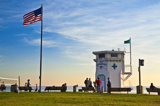 Laguna Beach, CA: Historic Lifeguard Tower at Main Beach
