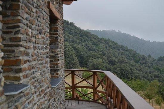 El CastaNar Nazari: Vista desde la pasarela junto a la habitación
