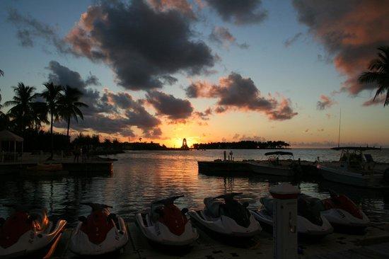 Sunset from TJ's Tiki Bar