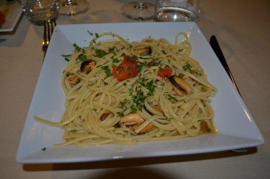 Hotel Principe di Fitalia Wellness & SPa: Spaghetti ai frutti di mare