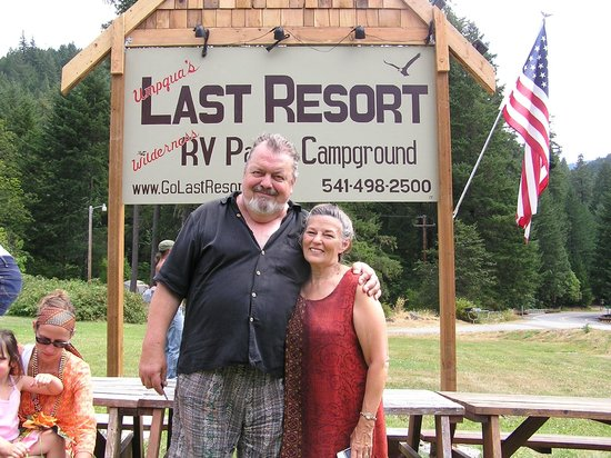 Umpqua's Last Resort, Wilderness RV Park & Campground: Umpqua's Last Resort on the North Umpqua River