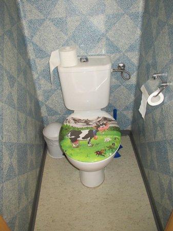 Berggasthaus Tschingelhorn: Amusing toilet decor!