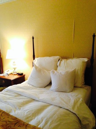 McKinley Grand Hotel : Poorly made bed was one of the cleanest areas of the room