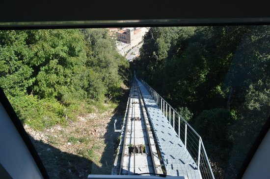 Sant Joan Funicular Railway: Don't look down