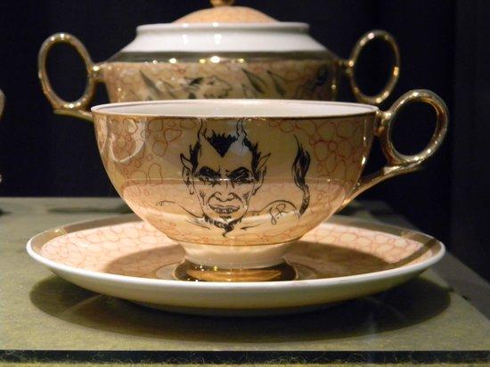 Devil's Museum: Devil teacup and saucer