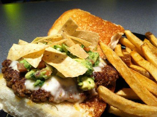 Harvey Washbangers: Chorizo burger. Yum!