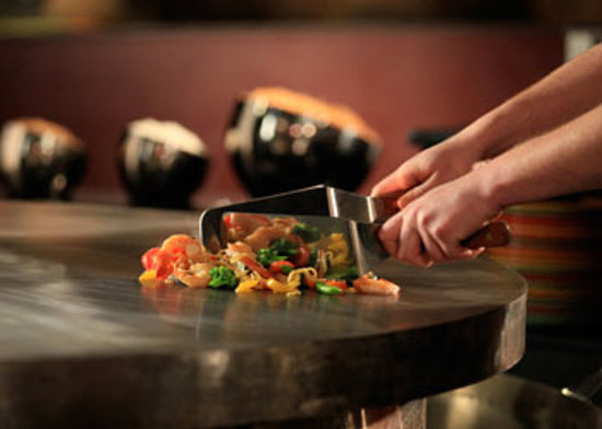 HuHot Mongolian Grill: Your meal is grilled right in front of you!
