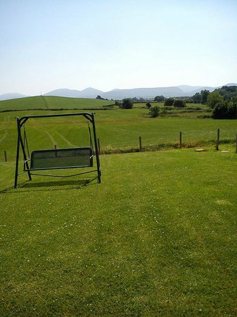 Leigh House Bed and Breakfast: back garden overlooking the Mourne Mountains