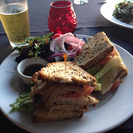Stella Italianfare La Jolla: Turkey/avocado sandwich with rosemary/garlic reduction