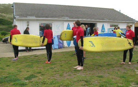 Gwithian Academy of Surfing: Getting ready for action