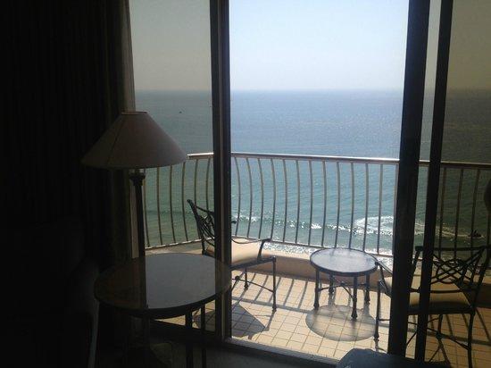 Paradise Hotel Busan: Balkong og utsikt fra rommet